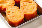 フランスパンのサバラン風の作り方1