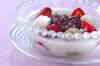 イチゴ白玉の作り方の手順