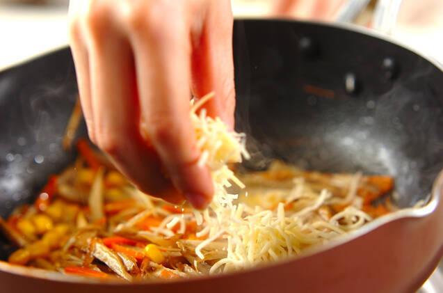 ゴボウのチーズ炒めの作り方の手順5