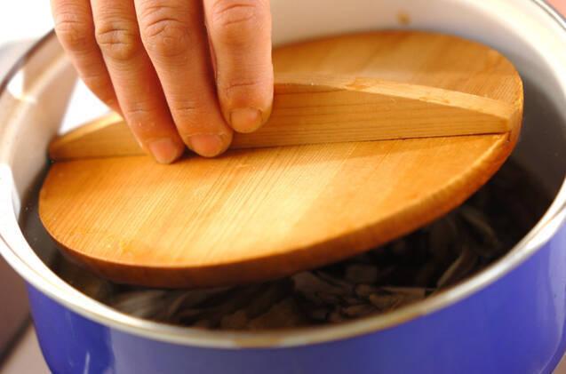 水煮ゼンマイのサッと煮の作り方の手順5