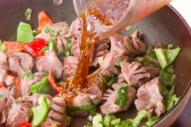 コリコリ砂肝炒めの作り方の手順7