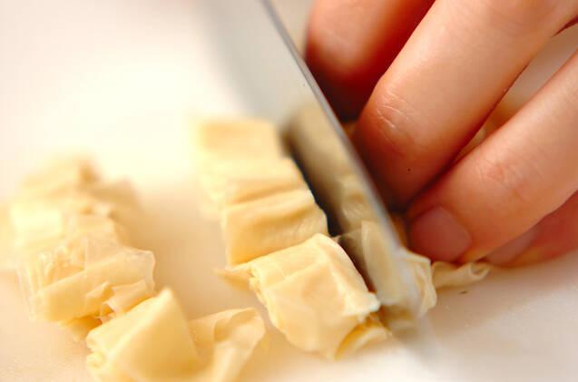 キャベツと湯葉の和えものの作り方の手順5