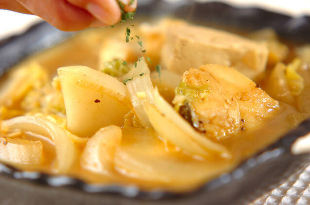 タラのカレースープの作り方の手順4