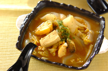 タラのカレースープ