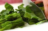 ホウレン草あんかけ豆腐の作り方1