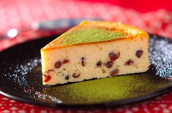 小豆の和風チーズケーキ