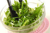 水菜と白菜の豆腐サラダの作り方2