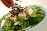 水菜と白菜の豆腐サラダの作り方3