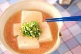 豆腐のタラコあん