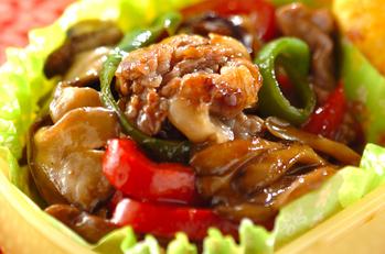 牛肉とマイタケの炒め物