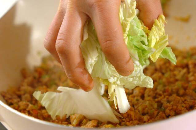 白菜入り麻婆豆腐の作り方の手順6