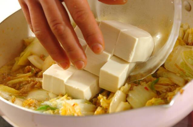 白菜入り麻婆豆腐の作り方の手順7