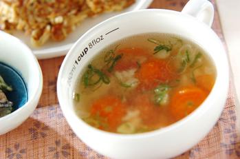 ひき肉とトマトのスープ