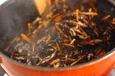 芽ヒジキと油揚げの煮物+混ぜ巻き寿司の作り方4