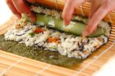 芽ヒジキと油揚げの煮物+混ぜ巻き寿司の作り方8