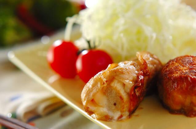 豚肉のエノキチーズ巻き
