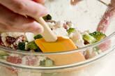長芋とマグロのチーズ和えの作り方2