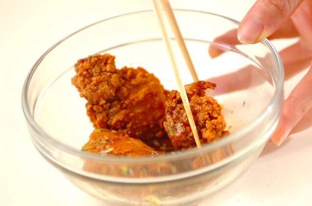 鶏唐のネギソースの作り方の手順2