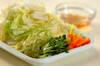 白菜とニンジンの甘酢炒めの作り方の手順1