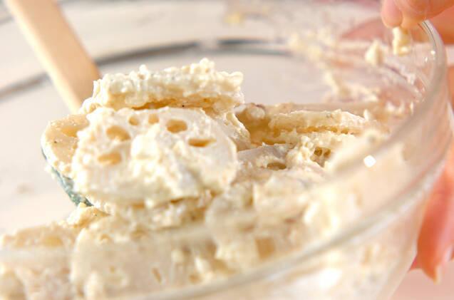レンコンのホワイトサラダの作り方の手順3