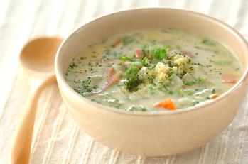 玉ネギのミルクスープ