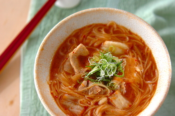 キムチにゅう麺