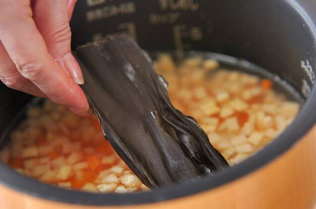 ソラ豆ご飯の作り方の手順7