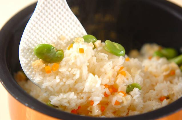 ソラ豆ご飯の作り方の手順8