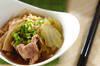 豚肉と白菜の煮物の作り方の手順