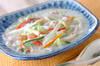 白菜の豆乳煮の作り方の手順
