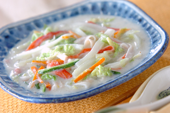 白菜の豆乳煮