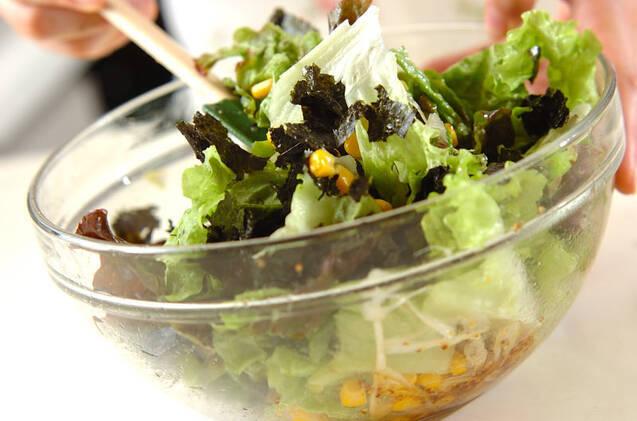 サニーレタスのシンプルサラダの作り方の手順6