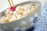 鯛飯の桜散らしの作り方4