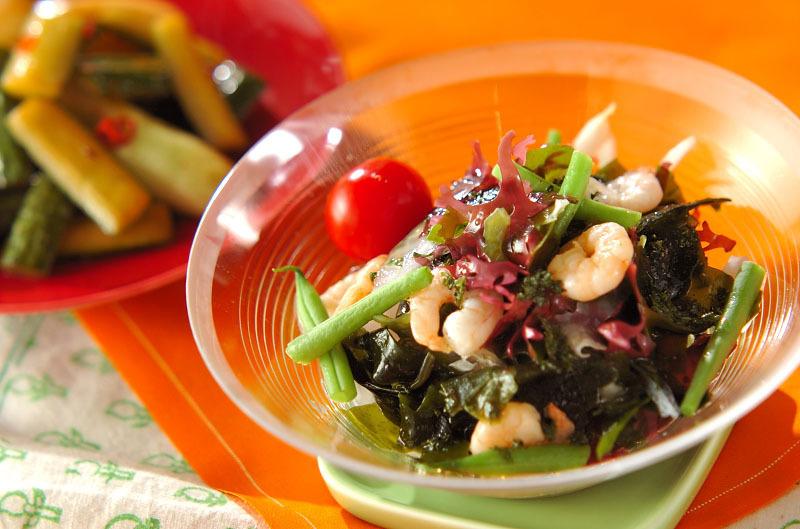 プリプリしゃきしゃきの海藻サラダ