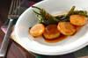 長芋と甘長唐辛子のソテーの作り方の手順