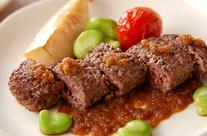 牛ひき肉ステーキ