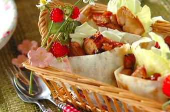 春キャベツとチキンのピタパン