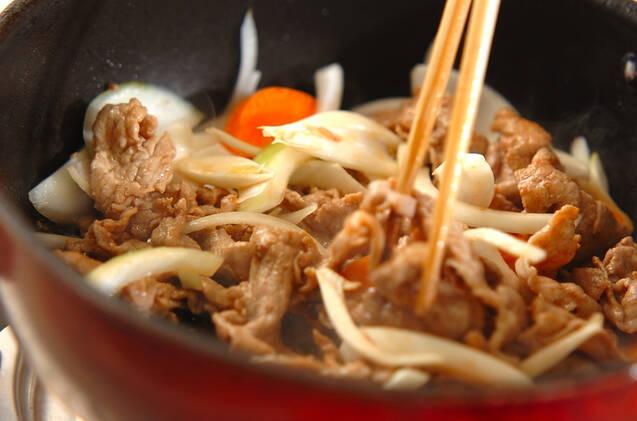 みそ豚丼の作り方の手順5