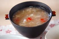 おろしレンコンの卵白スープ