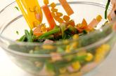 ホウレン草とコーンのサラダの作り方2