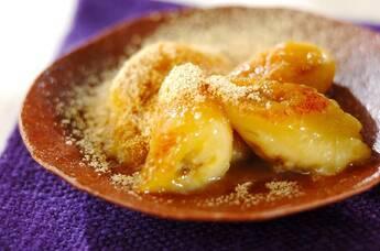 バナナの三温糖ソテー