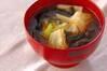 キャベツのみそ汁の作り方の手順