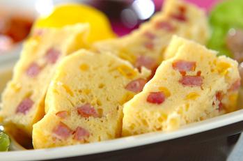 レンジでソーセージ蒸しパン