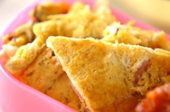 ザーサイと焼豚の中華オムレツ