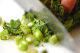野菜たっぷりおひたしサラダの下準備1