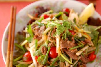 牛肉のピリ辛サラダ