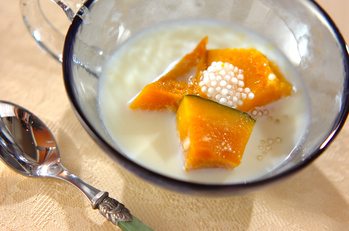 カボチャのデザートスープ