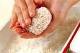 豆腐の蒸し米団子の作り方2