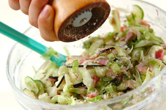 ナス入りコールスローサラダの作り方の手順5