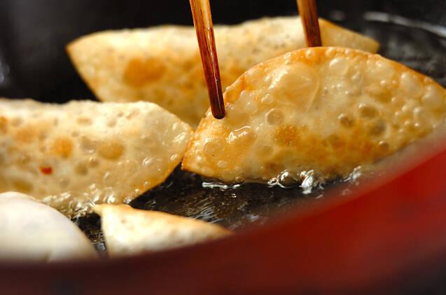 アジの梅風味餃子の作り方の手順3